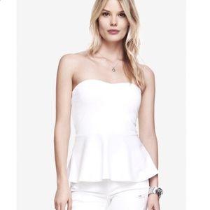 🧡Express white sweetheart peplum tube top